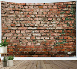 Brick Wall Tapestry Vintage Texture Stone Wall Hanging For Living Room Bedroom