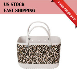 Bogg Bag Style LEOPARD Beach Bag Lady Extra Large Beach tote FREE FAST SHIPPING $128.36