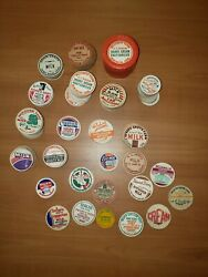 224 Old Milk Bottle Caps Nice Selection Many Different New England Dairies