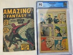 Amazing Fantasy 15 Cgc Pg - First Spider-man - 1962 Holy Grail - Pg 11 Only
