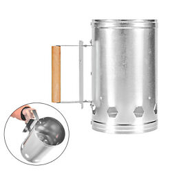 Chimney Starter Grill Quick Charcoal Coal Fire Lighter Can Stove Picnic