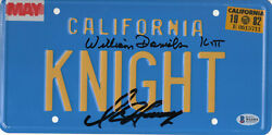 William Daniels D Hasselhoff Autograph Knight Rider Signed License Plate Bas 3