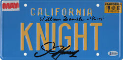 William Daniels D Hasselhoff Autograph Knight Rider Signed License Plate Bas 6