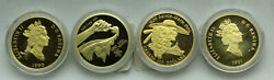 4 Canadian Gold Coin Lot Commorative 1988198919901991