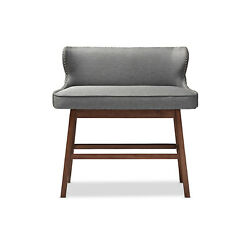 Wholesale Interiors Gradisca Modern And Contemporary Bar Bench Banquette Grey