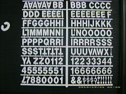 New White 1 Menu And Message Board Letters And Numbers Periods,hyphens,comma's