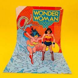 Vintage Wonder Woman Super Powers Colombian Release Gulliver + Poster 1987