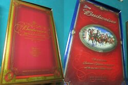 Budweiser Clydesdales Millenium Limited Edition Set Bottle Glasses New Pick1
