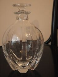 Baccarat Crystal Glass Decanter, Neptune, Mint, Display Use Only, France,stopper