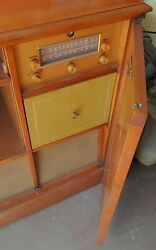 1950's Magnificent Magnavox Console Stereo Record Player. Very Rare.