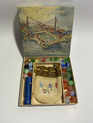 Vintage 1933 A Century Of Progress Worlds Fair Master Marbles Set With Box