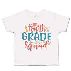 Toddler T-shirt Fourth Grade Squad Cotton Back To Class Boy And Girl Clothes Arrow