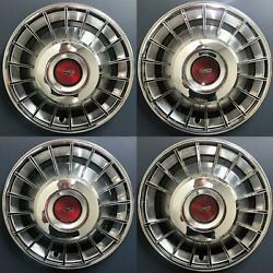 1970-1973 Ford Torino Fairlane Mustang 673 14 Hubcaps Oem D00z1130a Set/4