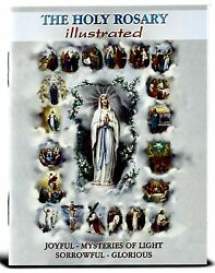 The Holy Rosary Illustrated Booklet New Explanation Each Of The Mysteries 10pk