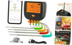 Wifi Grill Thermometer, Wireless Bbq Thermometer For 4t Food Thermometer