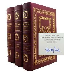 Foote Shelby Civil War A Narrative Signed 1st Easton Press 1991 1st Edition 1st