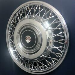1985- Early 1986 Oldsmobile 98 4098a 14 Wire Hubcap / Wheel Cover 22522741