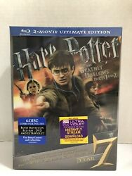 Harry Potter And The Deathly Hallows Parts 1and2 Ultimate Edition Blu-ray 6-disc New