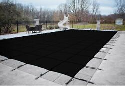 Hpi Rectangle Black Mesh In-ground Swimming Pool Safety Cover Choose Size