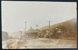1910s Usa Rppc Real Picture Postcard Cover Wilseyville Ny Train Station