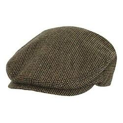Outback Trading Co Hyland Cap Mens Hat Wool Blend Houndstooth,one Size - Brown