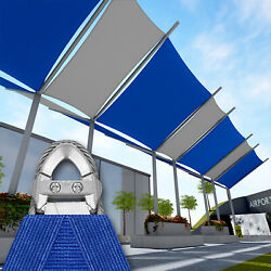 Blue 43 Ft Heavy Duty Steel Wire Cable Sun Shade Sail Canopy Patio Pool