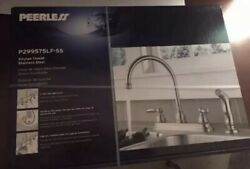 Peerless Stainless Steel Kitchen Faucet W/sprayer P299575lf-ss-w 4-hole