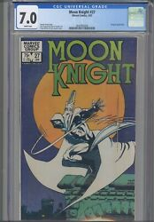 Moon Knight 27 Cgc 7.0 1983 Marvel Comics Terry Austin And Frank Miller Cover