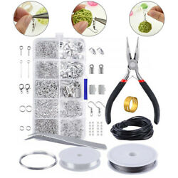 Jewelry Making Kit Wire Anklets Sterling Beading Repair Tools Craft Supplies New