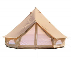 Danchel Outdoor Large Cotton Canvas Yurt Tent With 2 Stove Jacks, Glamping Tents