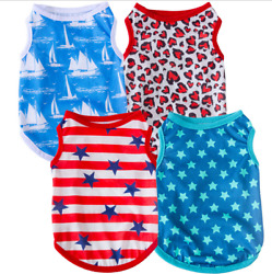 Pets Clothes Thin And Breathable Vest With Stars Printing For Small Dogs And Cat
