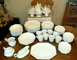 Vintage Fine China Set. Setting For 8 - 66 Pieces - Heritage By Johnson Brothers