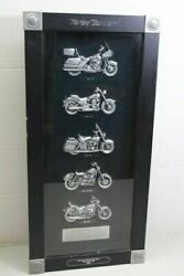 Harley Davidson Motorcycles Bikes Of1980s Framed Plaque Shadow Box-last In Stock