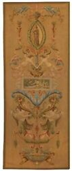Tapestry Aubusson Fountain 36x84 Pink With Backing And Rod Pocket