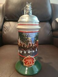 Budweiser 2008 Members Exclusive Stein Clydesdale 75th Anniversary Bsm1