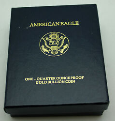 In Box 2001-w Gold American Eagle Proof 1/4 Oz 10 With Coa
