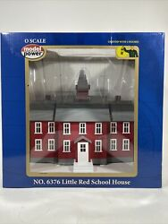 Mrc Model Power O Scale 6376 Lighted Little Red School House W Figures