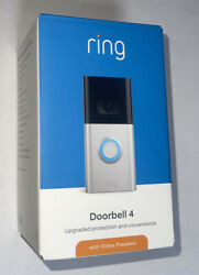 Ring Video Doorbell 4 Rechargeable Battery Wireless Security Night Vision Wifi