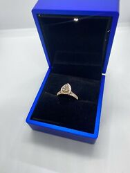 14k Ring Size 7 Rose Gold With Chocolate Diamond.