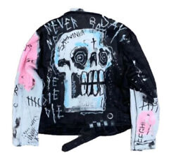 Never Ay Die Leather Jacket🔥lil Peep Authentic For Those Who Sin Size Large