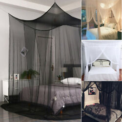 4 Corner Post Bed Canopy Mosquito Net Full Queen King Size Netting Bedding Cover