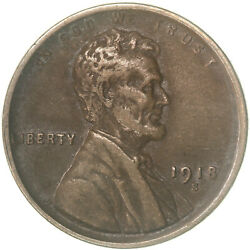 1918 S Lincoln Wheat Cent Extra Fine Penny Xf