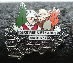 Forest Fire Supervisors Since 1967 Smokey The Bear Pin