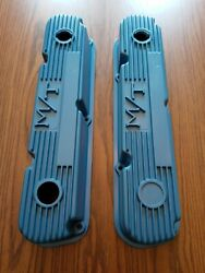 Vintage Holley M/t Mickey Thompson Mopar Small Block Valve Covers 318 340 360
