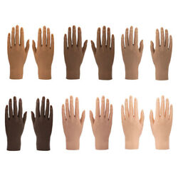 Silicone Nail Training Hand For Acrylic Nails, Mannequin Hands For Nails