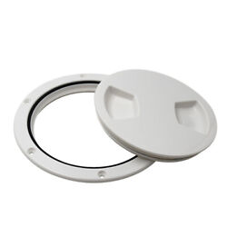 White Abs Plastic Durable 5in 127mm Boat Sailing Deck Plate Hatch Case