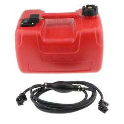 Marine Boat Portable Fuel Tank W/ Connector Fit For Yamaha Outboards Red