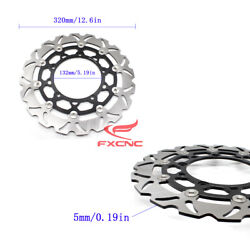 Fit Yamaha R25 2015-2016 Front Brake Disc Rotor T6061 Aluminum+stainless Steel