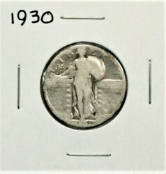 1930 Standing Liberty Quarter - Ag - About Good - 90 Silver