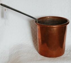 Antique French Copper C1800 Sugar Jam Cooking Pot Pan Hand Wrought Xlg Heavy